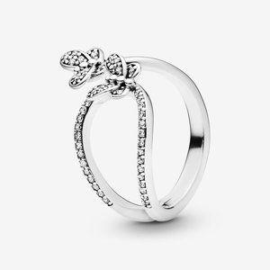🔥PANDORA Sparkling Butterfly Open Ring